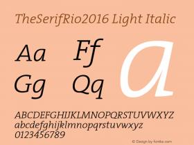 TheSerifRio2016 Light