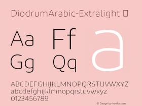 DiodrumArabic-Extralight