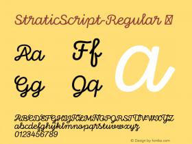 StraticScript-Regular