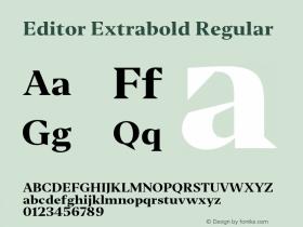 Editor Extrabold