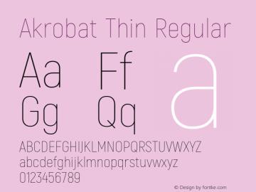 Akrobat Thin