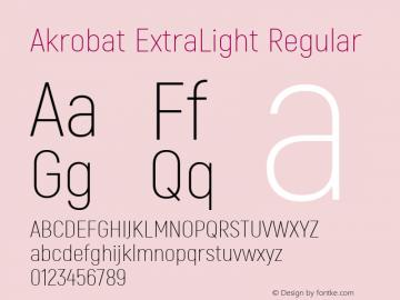 Akrobat ExtraLight