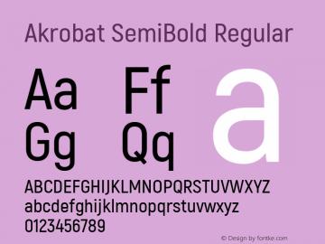 Akrobat SemiBold