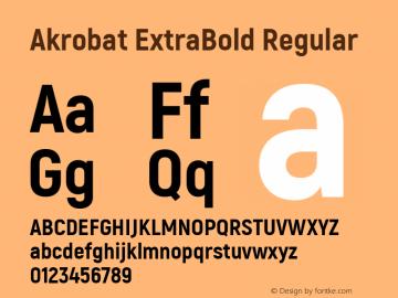 Akrobat ExtraBold