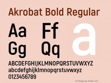 Akrobat Bold