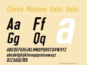 Clarke Medium Italic