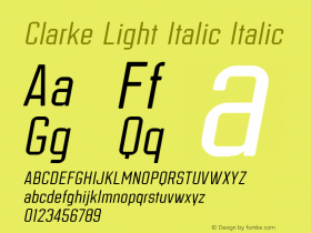 Clarke Light Italic