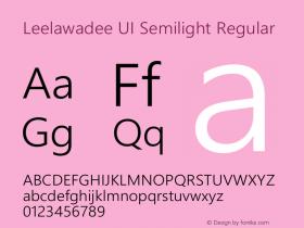 Leelawadee UI Semilight
