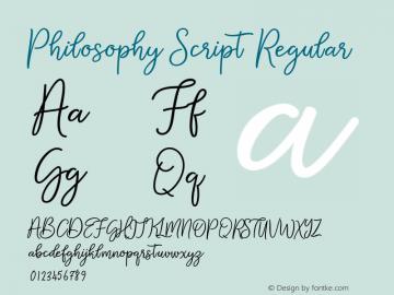 Philosophy Script