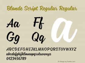 Blonde Script Regular