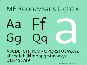 MF RooneySans Light