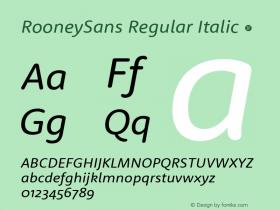 RooneySans Regular Italic