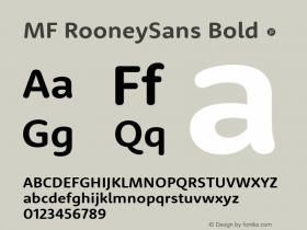 MF RooneySans Bold