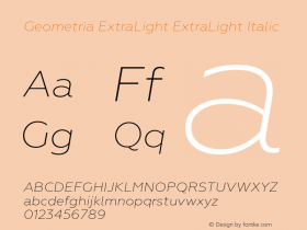 Geometria ExtraLight