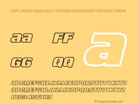 Left Hand Luke Bold Outline Italic