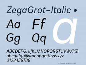 ZegaGrot-Italic
