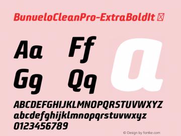 BunueloCleanPro-ExtraBoldIt