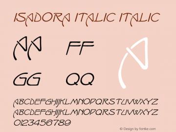 Isadora Italic