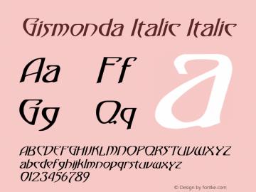 Gismonda Italic