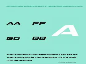 Outrider Semi-Condensed Bold It