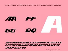 Xcelsion Condensed Italic