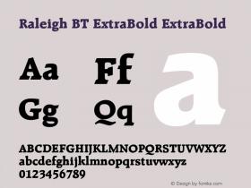 Raleigh BT ExtraBold
