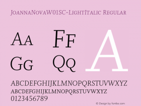 JoannaNovaSC-LightItalic