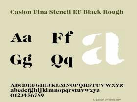 Caslon Fina Stencil EF