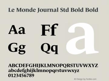 Le Monde Journal Std Bold