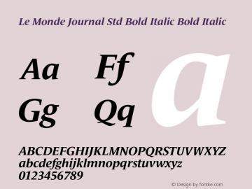 Le Monde Journal Std Bold Italic
