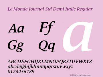 Le Monde Journal Std Demi Italic