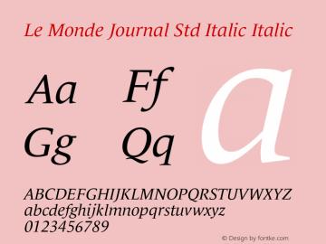 Le Monde Journal Std Italic