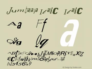 Jumbalaya Italic
