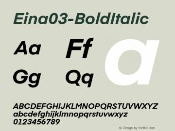 Eina03-BoldItalic