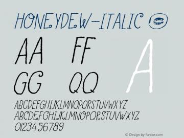HoneyDew-Italic
