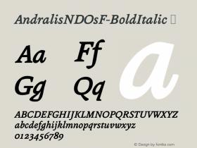 AndralisNDOsF-BoldItalic