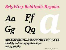 Bely-BoldItalic