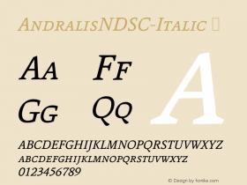 AndralisNDSC-Italic