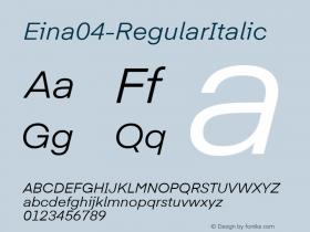 Eina04-RegularItalic