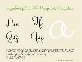 AyaScript-Regular