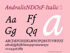 AndralisNDOsF-Italic