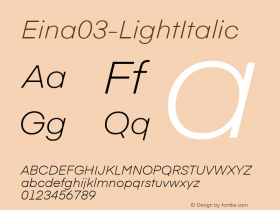 Eina03-LightItalic