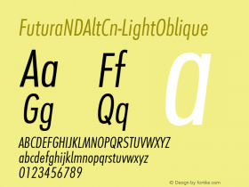 FuturaNDAltCn-LightOblique