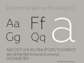 GeometriaNarrow-ExtraLight