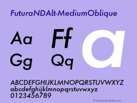 FuturaNDAlt-MediumOblique