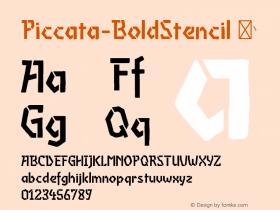 Piccata-BoldStencil