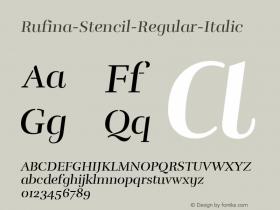 Rufina-Stencil-Regular-Italic