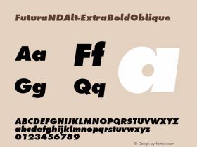 FuturaNDAlt-ExtraBoldOblique