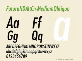 FuturaNDAltCn-MediumOblique