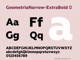 GeometriaNarrow-ExtraBold
